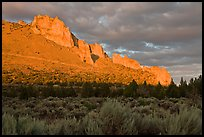 Stadender Ridge at sunset. Smith Rock State Park, Oregon, USA ( color)