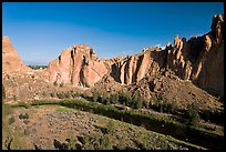 Crooked River and Dihedrals. Smith Rock State Park, Oregon, USA ( color)