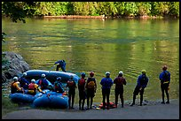 Rafting instruction, Ben and Kay Doris Park. Oregon, USA ( color)