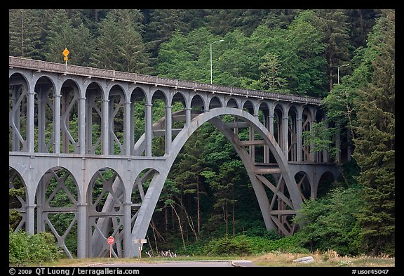 Highway 1 bridge,  Heceta Head. Oregon, USA (color)