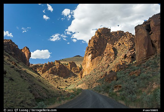 Road in Leslie Gulch. Oregon, USA (color)