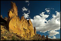Roostercomb Rock and cloud Leslie Gulch. Oregon, USA ( color)