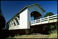 White covered bridge, Willamette Valley. Oregon, USA (color)
