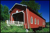 Red covered bridge, Willamette Valley. Oregon, USA