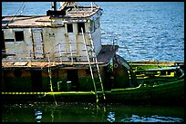 Shipwreck near Coquille River. Oregon, USA