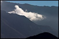 Fumerole cloud over the crater,. Mount St Helens National Volcanic Monument, Washington (color)