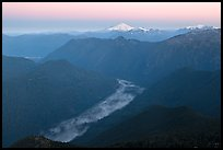 Cascade River Valley and Mount Baker at dawn. Washington (color)