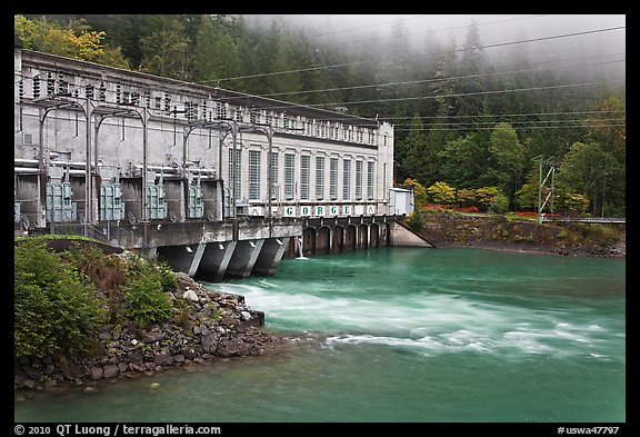 Hydroelectric Powerhouse, Newhalem. Washington (color)