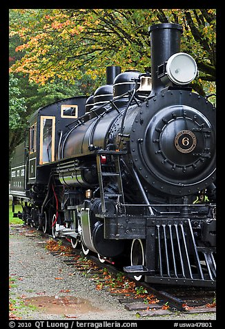 Historic steam locomotive, Newhalem. Washington