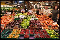 Fruit stall, Main Arcade, Pike Place Market. Seattle, Washington