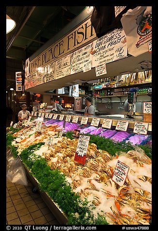 Pike Place Fish Market. Seattle, Washington (color)