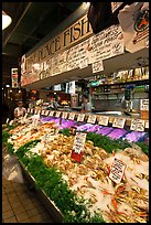 Pike Place Fish Market. Seattle, Washington ( color)
