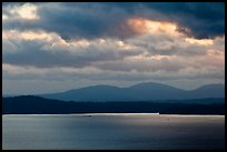 Puget Sound and Olympic Mountains at sunset. Olympic Peninsula, Washington (color)