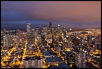 Seattle skyline by night. Seattle, Washington