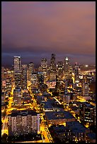 Night skyline. Seattle, Washington