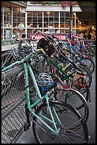Bicycles parked outside  Pike Place Market. Seattle, Washington ( color)
