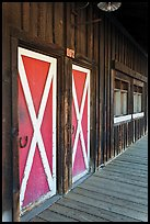 Painted doors and wood building, Winthrop. Washington ( color)