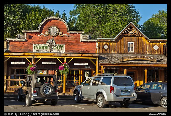 Stores in western style, Winthrop. Washington