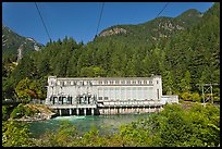 Gorge Dam in summer, Newhalem. Washington (color)