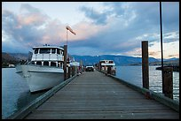 Deck with Lady of the Lake II ferry, Chelan. Washington ( color)