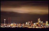 Seattle skyline at light from Puget Sound. Seattle, Washington ( color)