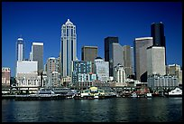 Seattle skyline seen from the water. Seattle, Washington ( color)