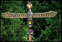 Totem Pole carved by native tribes, Olympic Peninsula. Olympic Peninsula, Washington (color)
