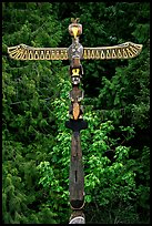Totem Pole, Olympic Peninsula. Olympic Peninsula, Washington (color)