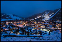 View from above at night. Jackson, Wyoming, USA ( color)