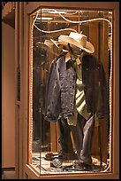 Western-style fashion on display. Jackson, Wyoming, USA ( color)