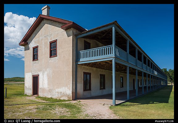 Cavalry Barracks. Fort Laramie National Historical Site, Wyoming, USA (color)