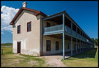 Cavalry Barracks. Fort Laramie National Historical Site, Wyoming, USA ( color)