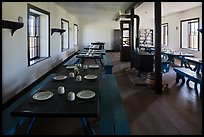 Dinning room in Cavalry Barracks. Fort Laramie National Historical Site, Wyoming, USA ( color)