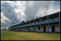 Barracks and storm clouds. Fort Laramie National Historical Site, Wyoming, USA ( color)