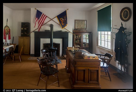 Officer office. Fort Laramie National Historical Site, Wyoming, USA (color)
