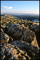 Rocks in late afternoon, Beartooth Range, Shoshone National Forest. Wyoming, USA (color)