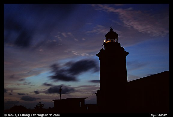Lighthouse at dusk, Cabo Rojo. Puerto Rico