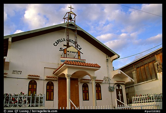 Front of a church, La Parguera. Puerto Rico (color)