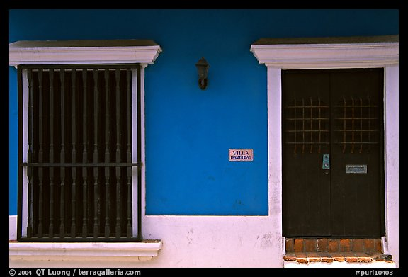 Doors and blue walls. San Juan, Puerto Rico