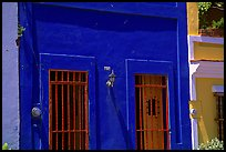 Doors and blue walls. San Juan, Puerto Rico ( color)