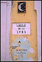 Street sign in Spanish. San Juan, Puerto Rico ( color)