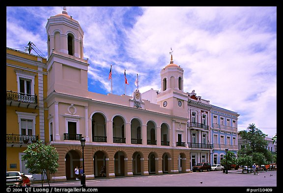 Town Hall. San Juan, Puerto Rico (color)