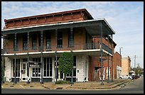 Historic brick building with balcony. Selma, Alabama, USA