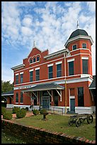 Old depot museum. Selma, Alabama, USA (color)