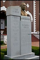 Memorial to Martin Luther King at the start of the Selma-Montgomery march. Selma, Alabama, USA