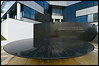 Table with names of 40 people who gave lives for racial equity, Civil Rights Memorial. Montgomery, Alabama, USA ( color)