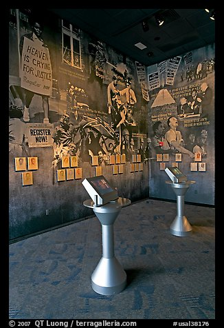 Exhibit inside the Civil Rights Memorial. Montgomery, Alabama, USA (color)