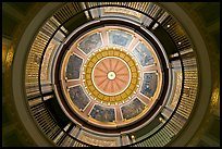 Dome of the state capitol from inside. Montgomery, Alabama, USA
