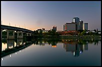 Bridge and skyline at dawn. Little Rock, Arkansas, USA (color)