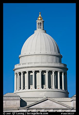 Dome of the Arkansas State Capitol. Little Rock, Arkansas, USA (color)